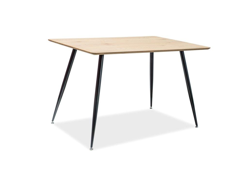 Jídelní stůl s deskou v dekoru dub REMUS 120X80