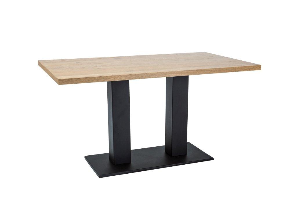 Jídelní stůl, dub / černá, SAURON 120x80