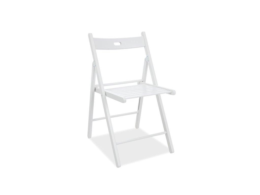 Bílá dřevěná židle SMART II