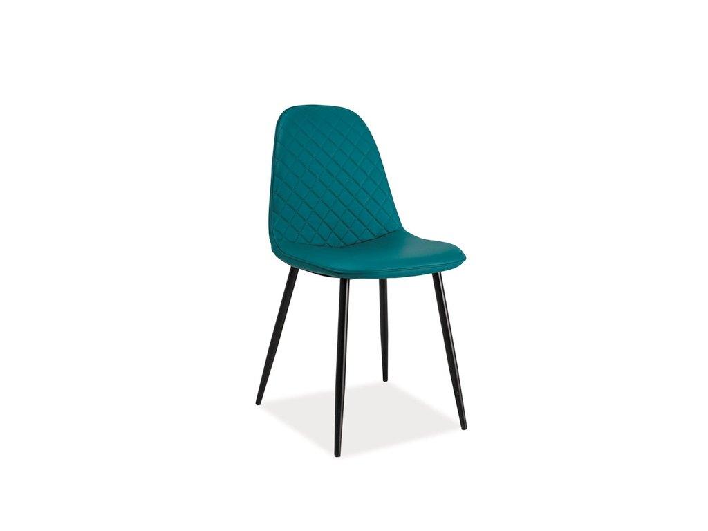 Židle, mořská / černá, TEO C