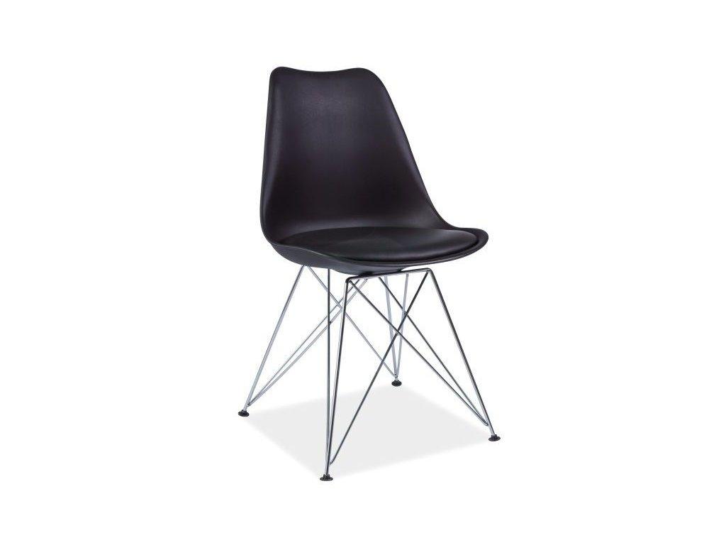 Židle, černá / chrom, TIM