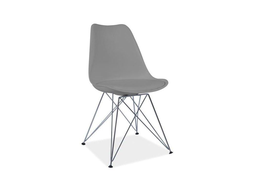 Šedá židle TIM