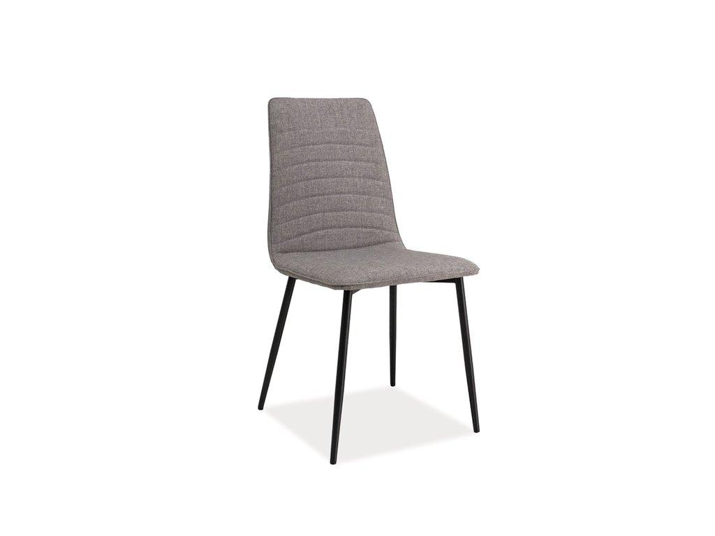 Židle, šedá / černá, TOMAS