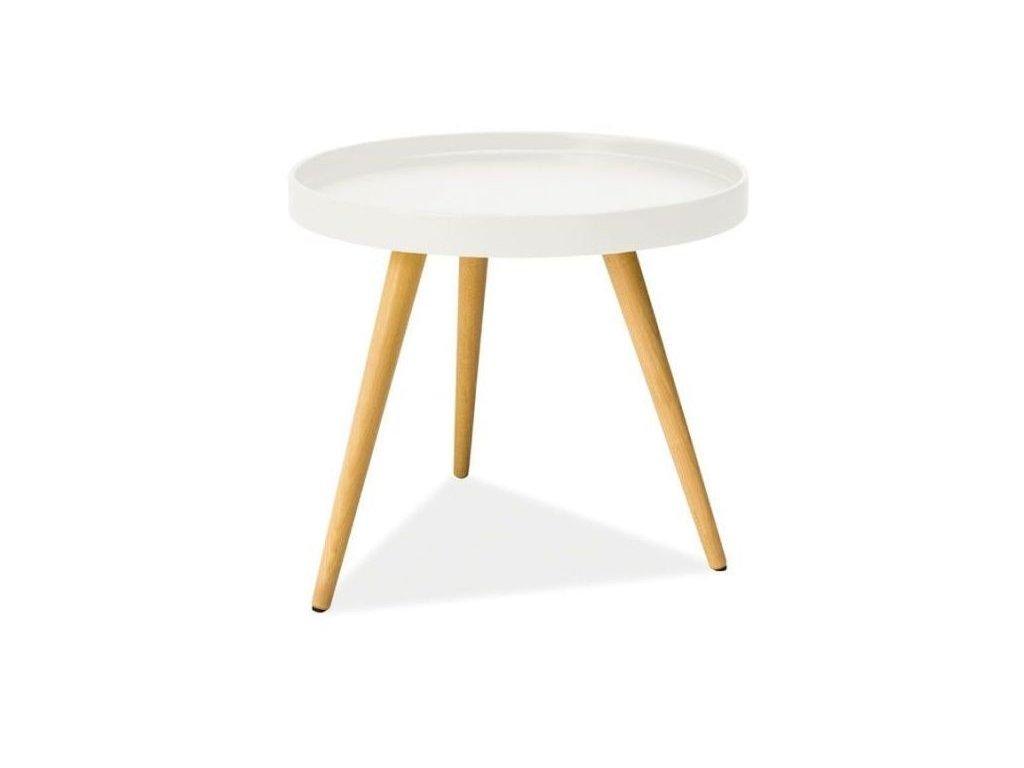Bílý příruční stolek TONI C