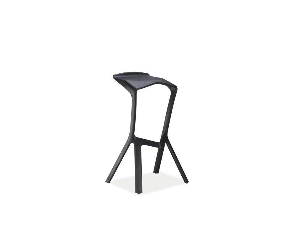 Černá barová židle VOLT