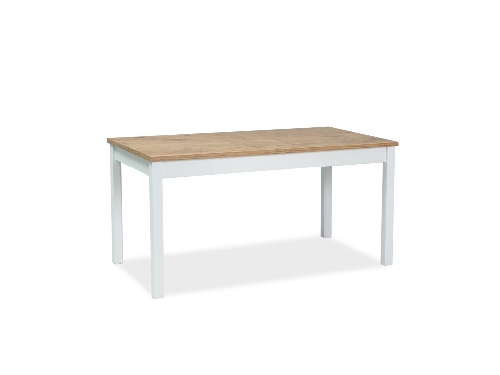 Jídelní stůl, dub lancelot / bílý mat, WIKTOR 140(190)x75