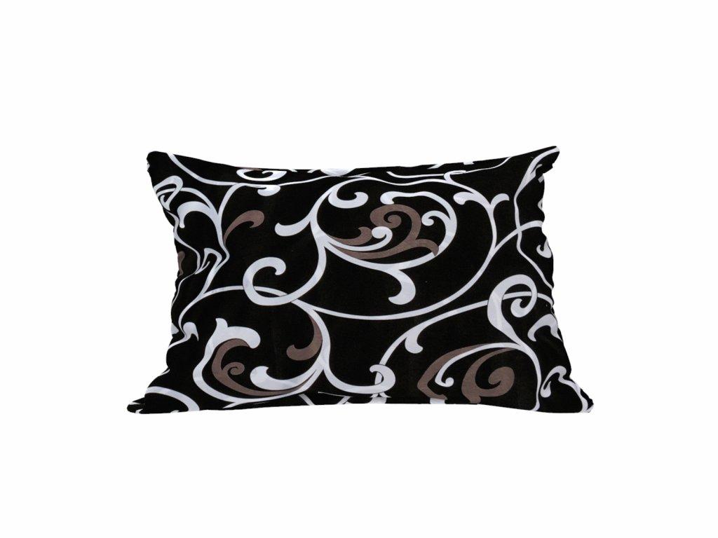 polštář dekorační PES vlákno levný 40 x 45 cm orient ornament černý