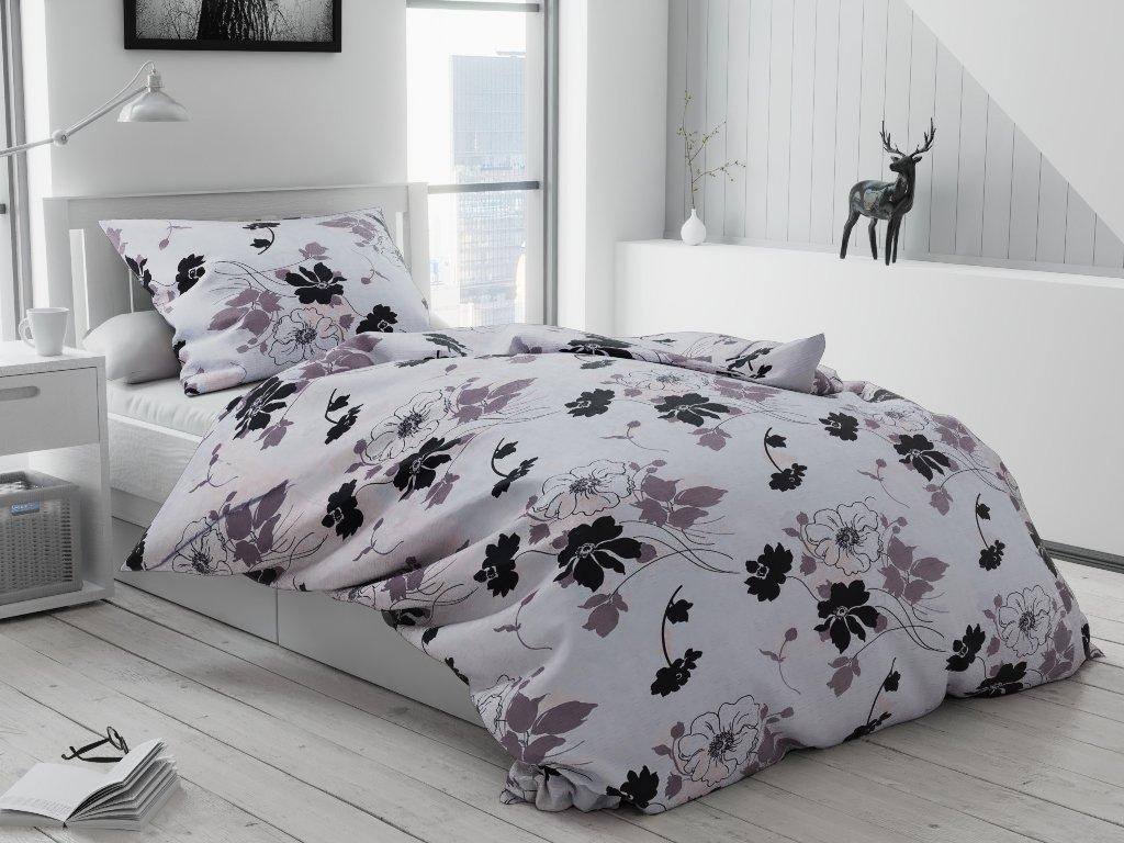 Bavlněné povlečení Tapeta černobílá (Rozměr povlečení 2 ks 70x90 cm; 200x220 cm)