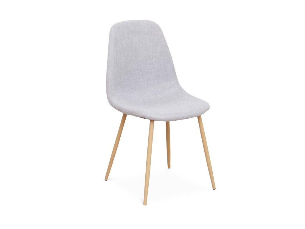 Židle, světle šedá / buk, LEGA