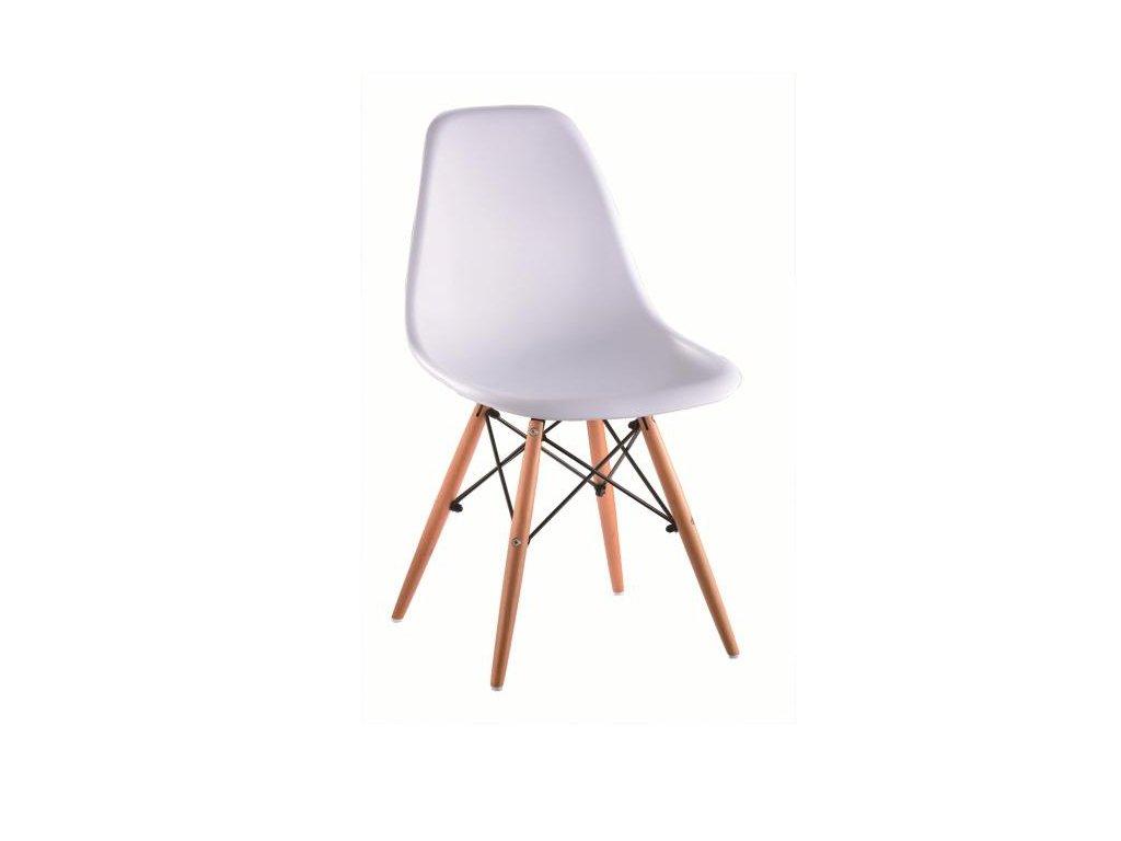 Bílá židle CINKLA 3 NEW