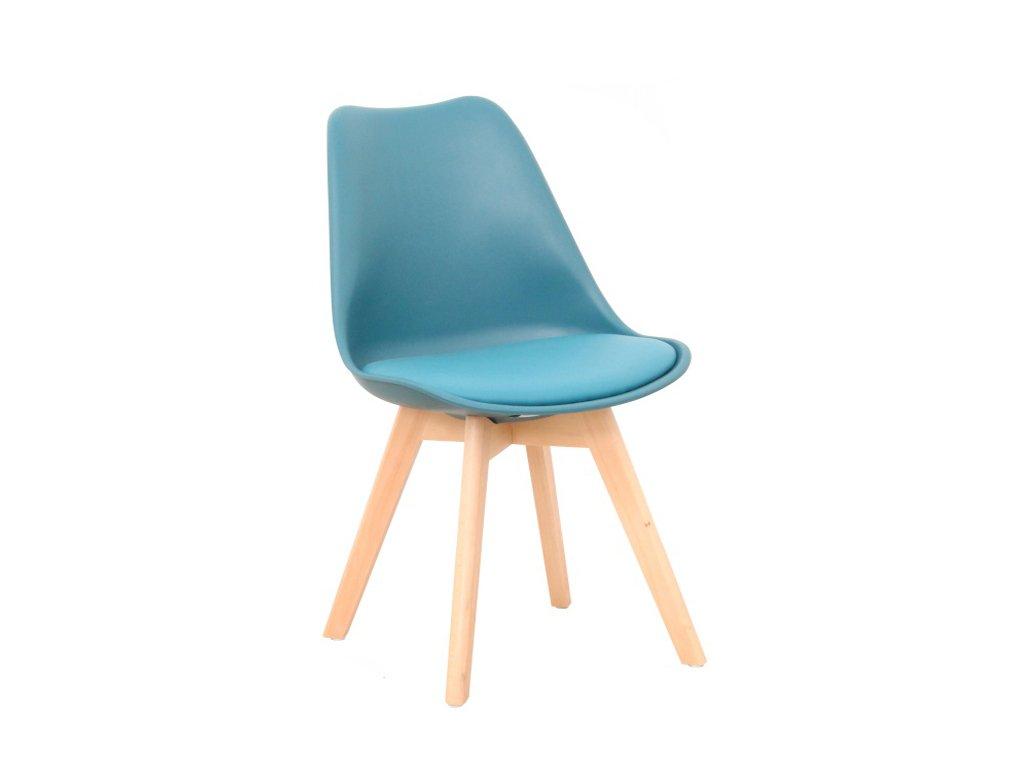 Židle, petrolej / buk, BALI NEW