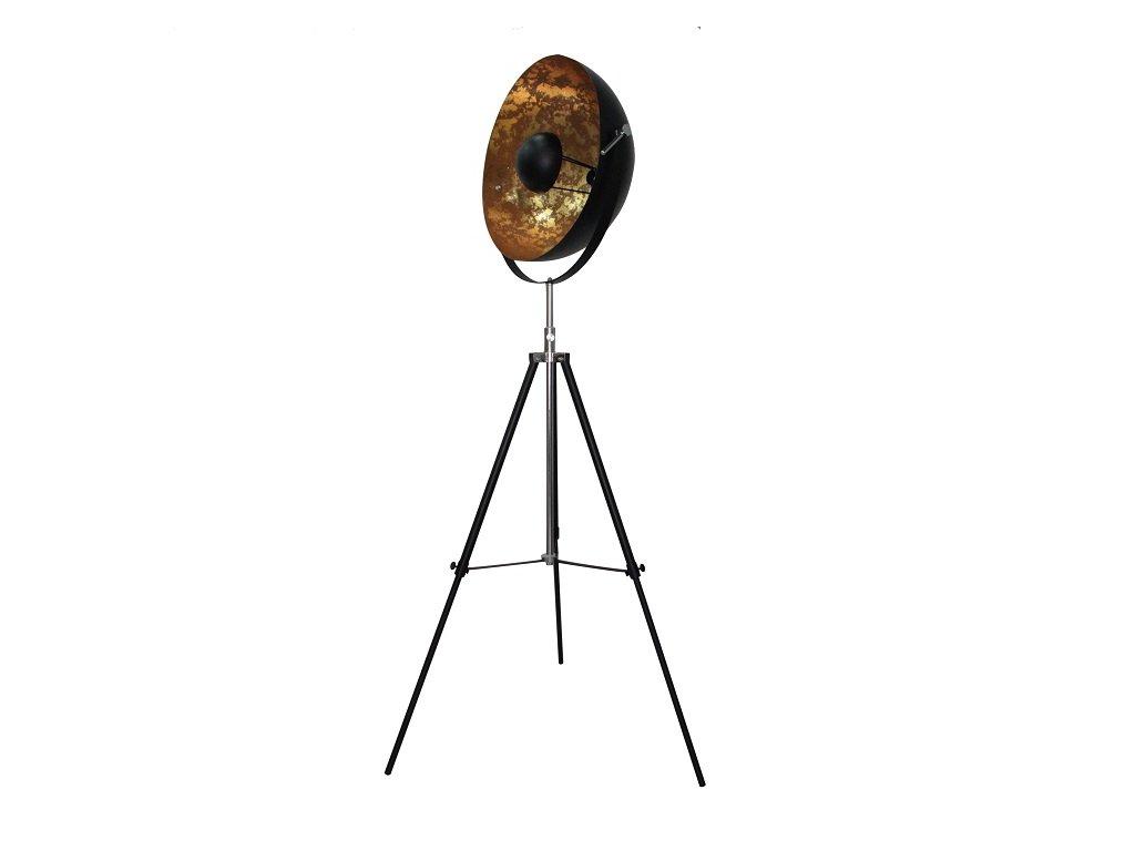 Stojací lampa, černá / zlatá, JADE TYP 6