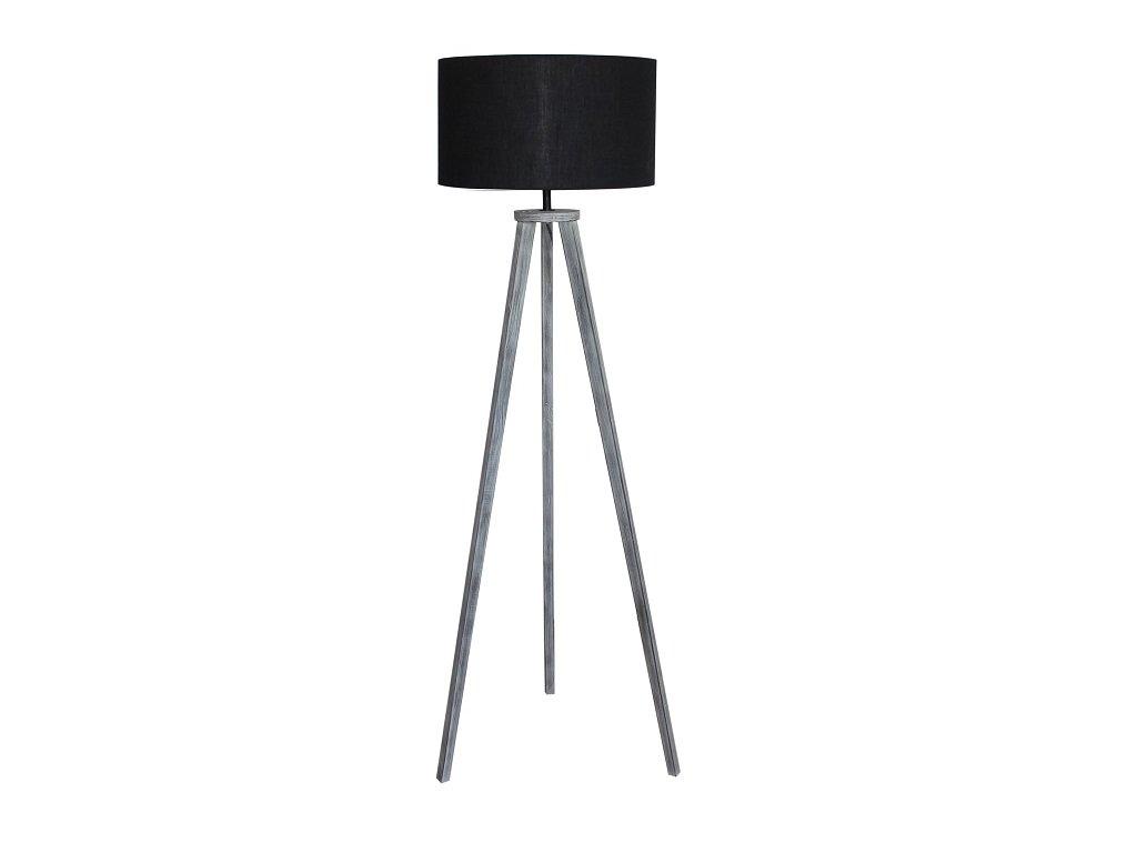 Stojací lampa, černá / šedá, JADE TYP 10