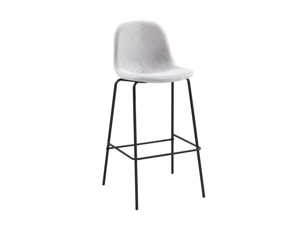 Barová židle, světle šedá / kov, MARIOLA NEW