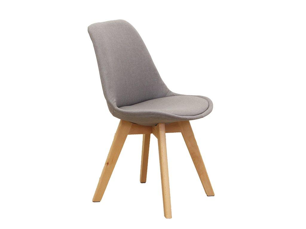 Židle, šedohnědá / buk, LORITA