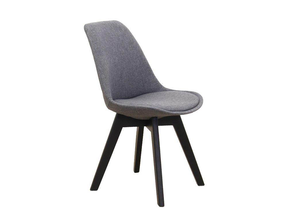 Židle, tmavě šedá / černá, LORITA