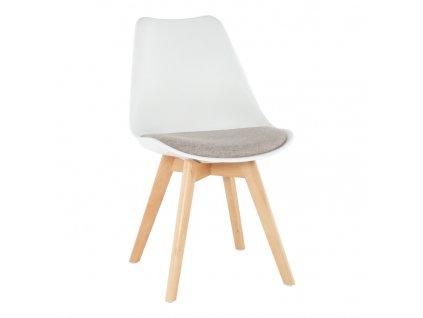 Bílo-šedobéžová židle DAMARA