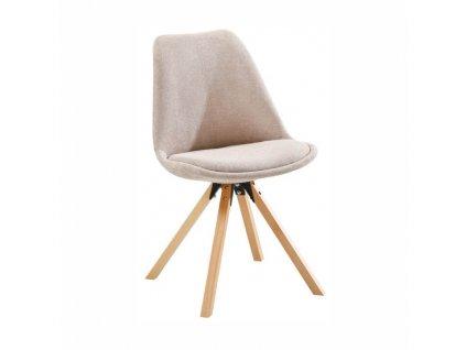 Židle, béžová / buk, SABRA
