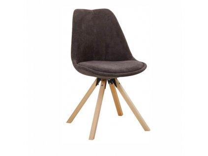 Židle, šedohnědá/buk, SABRA