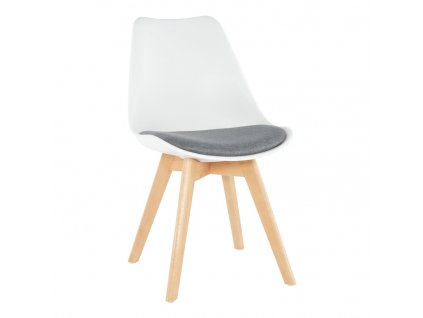 Bílo-šedá židle DAMARA