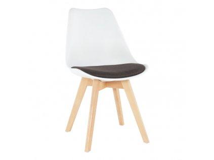 Židle, bílá / čokoládová, DAMARA
