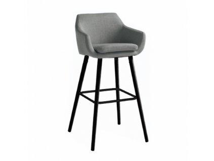 Barová židle, šedohnědá / černá, TAHIRA