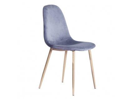 Židle, šedý samet / buk, MAKARIA