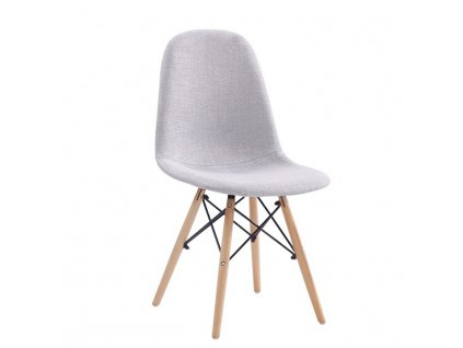 Jídelní židle, světle šedá, DARELA NEW