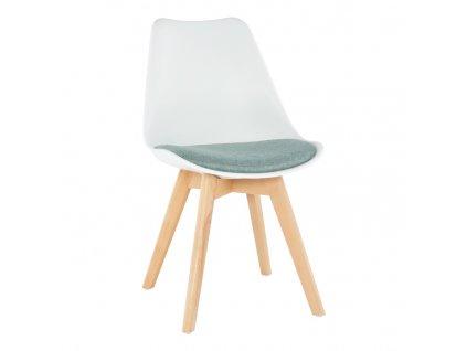 Židle, bílá / zelená, DAMARA