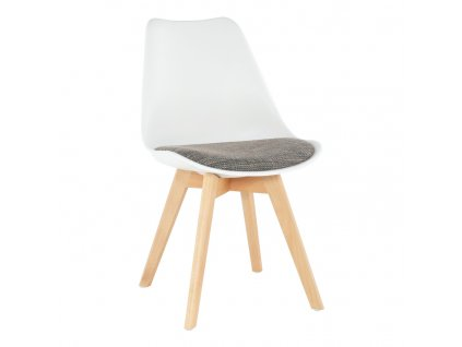Bílo-hnědá židle DAMARA