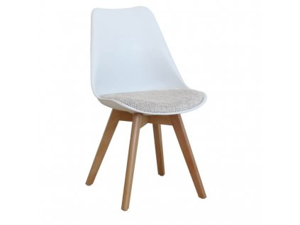 Bílo-světle šedá židle DAMARA