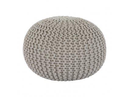 Krémový pletený taburet GOBI TYP 2