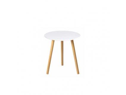 Bílý příruční stolek PAMINO