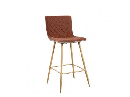 Barová židle, světle hnědá / hnědá / buk, TORANA
