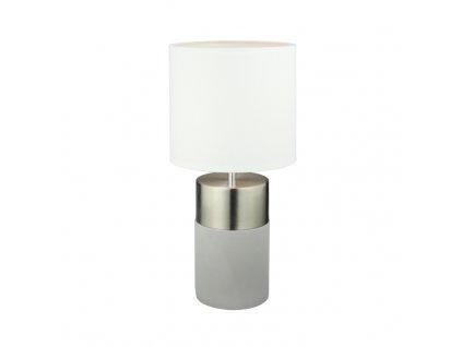 Stolní lampa, světle šedá / bílá, QENNY TYP 19
