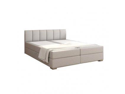 Světle šedá boxpringová postel RIANA KOMFORT 180 x 200 cm