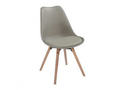 Židle, světle šedá / buk, SEMER NEW