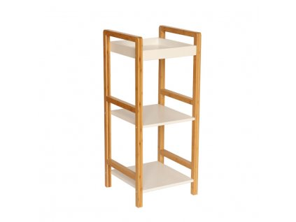 Úložný regál, lakovaný bambus / bílá, NIMES