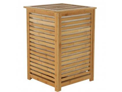 kos na bielizen bambus basket hneda 03