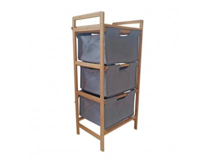 Regál, lakovaný bambus / látka, REGISA TYP1