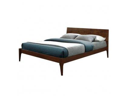 Masivní postel, ořech, 183x200, BEROTO