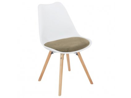 Bílo-šedohnědá židle SEMER NEW
