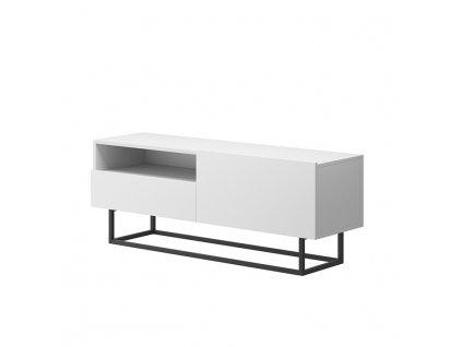 Bílý RTV stolek bez podstavy SPRING ERTVSZ120