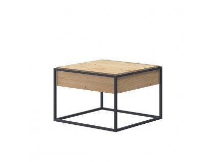 Konferenční stolek, dub artisan / černá, SPRING EL60