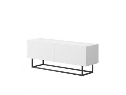 Bílý RTV stolek bez podstavy SPRING ERTV120