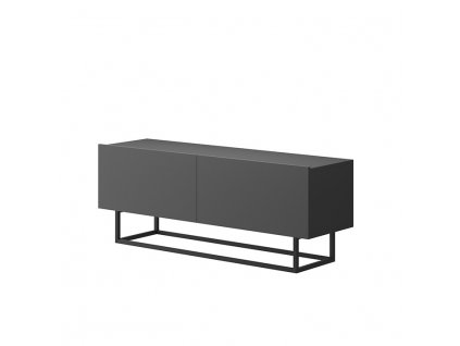 RTV stolek bez podstavy, grafit, SPRING ERTV120