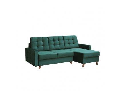 Univerzální sedací souprava, smaragdová / ořech, MEDLIN