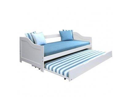 Bílá dětská postel s přistýlkou INTRO 90 x 200 cm