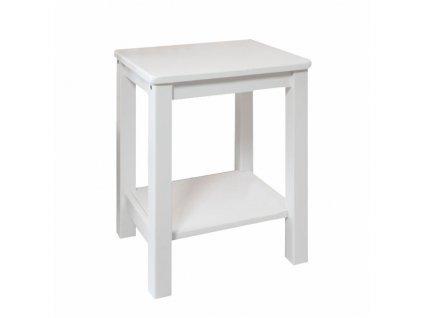 Noční stolek, masiv / bílá, FOSIL