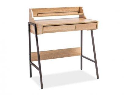 Psací stůl, dub / tmavě hnědá, B-168